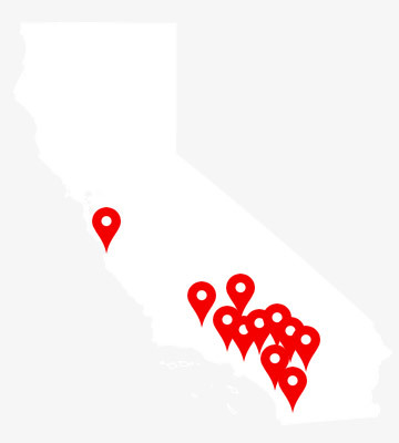 California Map Pins