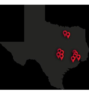 Texas Map Pins